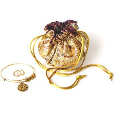 Brocade Travel Jewelry Bags